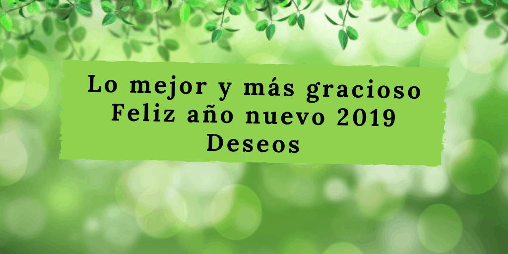 Lo Mejor Y Más Gracioso Feliz Año Nuevo 2019 Deseos Frases