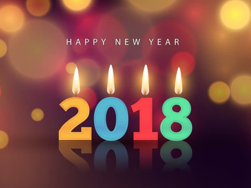 Feliz año nuevo desea 2018